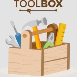 Piirroskuva työkalulaatikosta