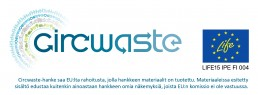 Circwaste-logo ja EU-lippu