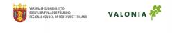 Varsinais-Suomen liiton ja Valonian logot