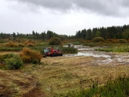 Kuva Järvelän kosteikon niittotoimista