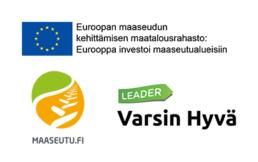 Logot: Euroopan maaseudun kehittämisen maatalousrahasto; Maaseutu.fi, Leader Varsin Hyvä